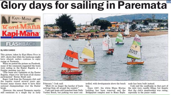 Kapi-Mana News 14 Oct Glory Days for Sailing at Paremata