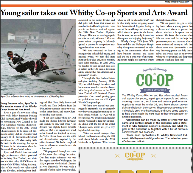 Whitby Co-OP article